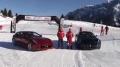 Ferrari FF w zimowym slalomie